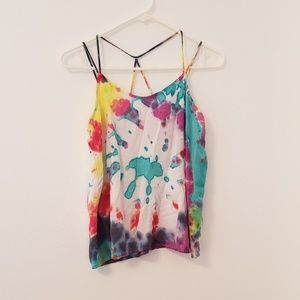 Hand Tiedyed Strappy Tank